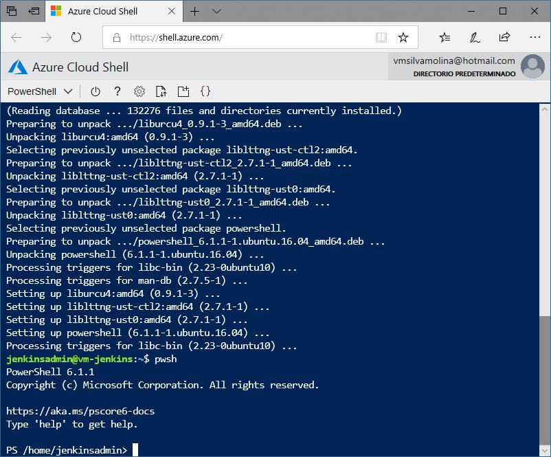 Instalación de PowerShell Core